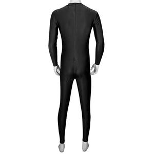 Image 4 - IIXPIN Mens בלט Dancewear מחליפות שחיית בגד גוף בכושר טוב אחד חתיכה מוק צוואר ארוך שרוול עור צמוד בגד גוף בגד גוף בלט רקדנית