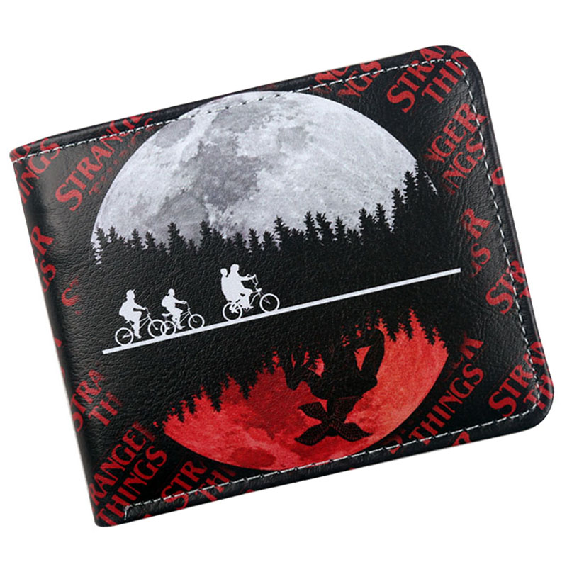 Wallet Money-Bag Coin-Holder Purse Retro Bifold Stranger Things Christmas-Gift Credit/id-Card