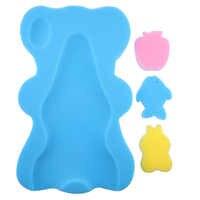 Bär Form Baby Dusche Schwamm Kissen Bad Halter Anti-slip Newborn Sitz Baby Bad Pad Infant Weiche Kissen Bett unterstützung