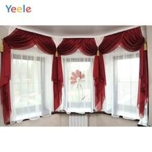 лучшая цена Yeele White Curtain Window Interior Photography Backgrounds Wedding Photocall Customized Photographic Backdrops For Photo Studio