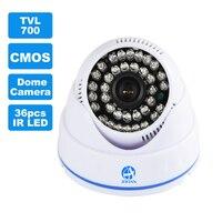 JOOAN 700TVL טלוויזיה במעגל סגור מצלמה 36 יחידות IR LED אבטחה בבית ראיית הלילה טובה מיני מעקב וידאו מקורה כיפת מעקבים