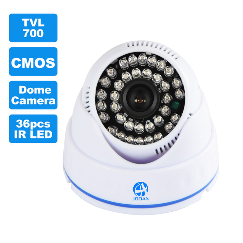 JOOAN 700TVL CCTV Camera 36pcs IR LED Good Night Vision Home Security Video Surveillance Mini Indoor Dome Surveillance Camera cmos 700tvl dome mini cctv camera hd indoor black white 24 ir leds day night vision security home video surveillance camera