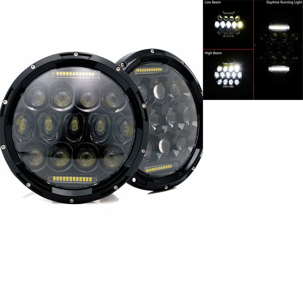 2xFor Lada Niva 7inch Led Headlight Hi/Low Beam Light Halo Angle Eyes DRL Headlamp For Jeep Wrangler Off Road 4x4 suzuki samurai-in Car Light Assembly from Automobiles & Motorcycles    2