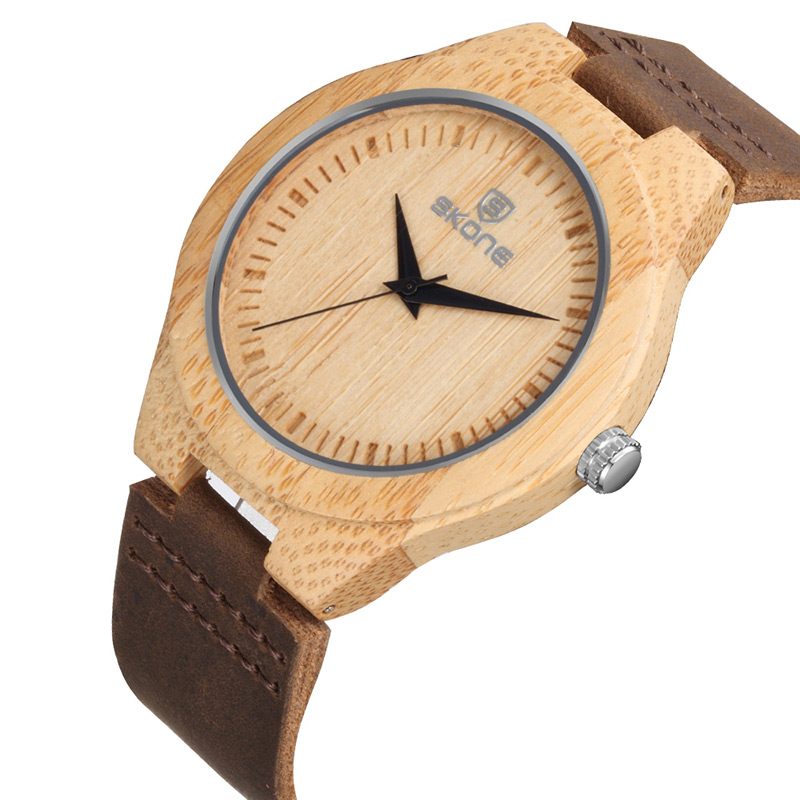 SKONE Brand Men's Bamboo Watches Women's  Wooden Wristwatches Unisex Quartz Watch Luxury Casual Fashion  Relogios Masculinos