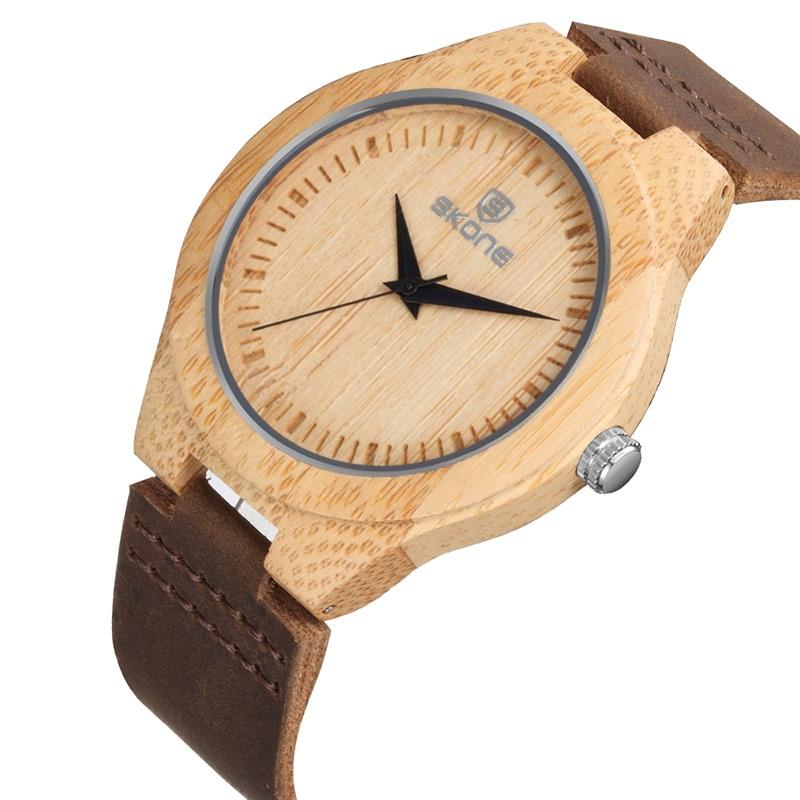SKONE Brand Men's Bamboo Watches Women's  Wooden Wristwatches Unisex Quartz Watch Luxury Casual Fashion  Relogios Masculinos