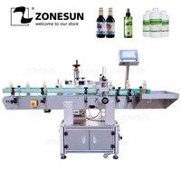 ZONESUN XL T822 автоматический, для круглых бутылок поверхности этикеточная машина аппликатор Еда Краски может бутылка вертикальная подъемная эт