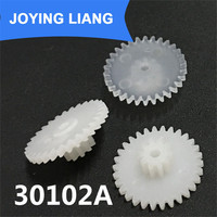 30102A Module 0.5M Hard POM Plastic Gear Double Cone Two Layers Gear Wheels Big Gear 30 Tooth Small Gear 10 Tooth (2500pcs/pack)