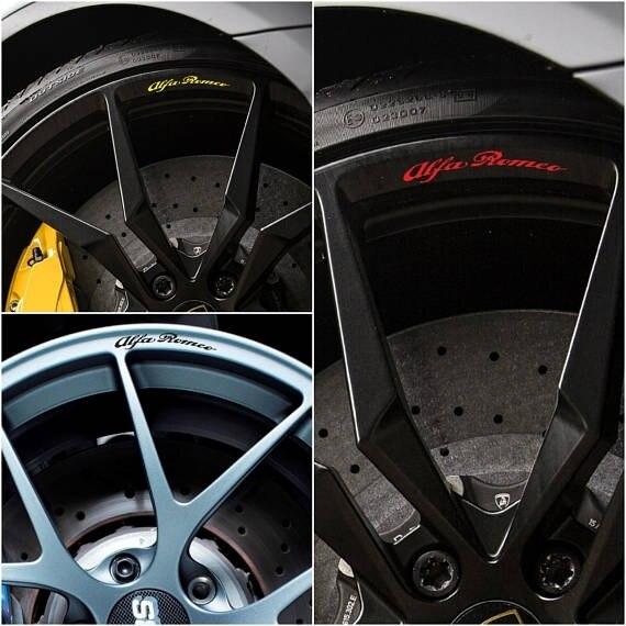 For X8 ALFA ROMEO Rims Alloy Wheel Decals Stickers Stelvio