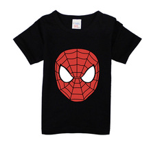 2017 Boys Short Sleeve T Shirts For Children Spider Man T-shirt Cotton 1-15 Year Kids Clothing Baby Girls Tops Tees Clothes