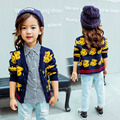 children's wear in the fall and winter of 2016 the new boy girl cartoon v-neck long-sleeved sweater coat free shipping