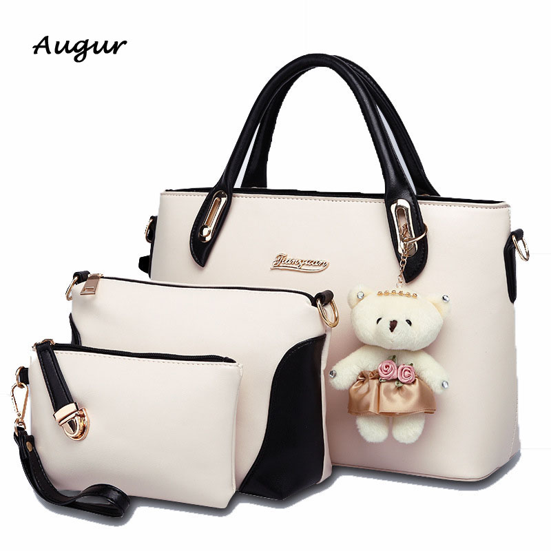 ФОТО Brand Designer Women's Handbag Messenger Bags set  Ladies's Handbag Shoulder Bags Clutch Bags 3 Kit Sets 6 Color