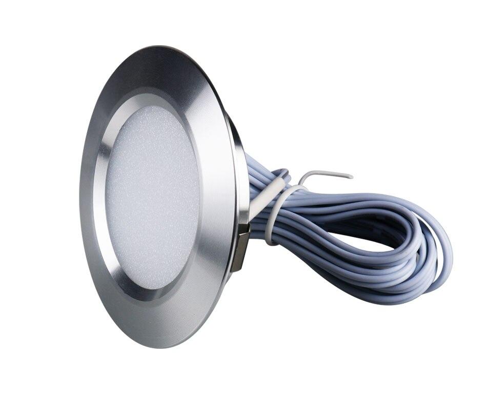 12PCS 12V LED Cabinet Light Round Aluminum Puck  Lamp Under kitchen Cupboard Shelf  Cabinet Lighting Light Fixture Indoor Lamps (5)