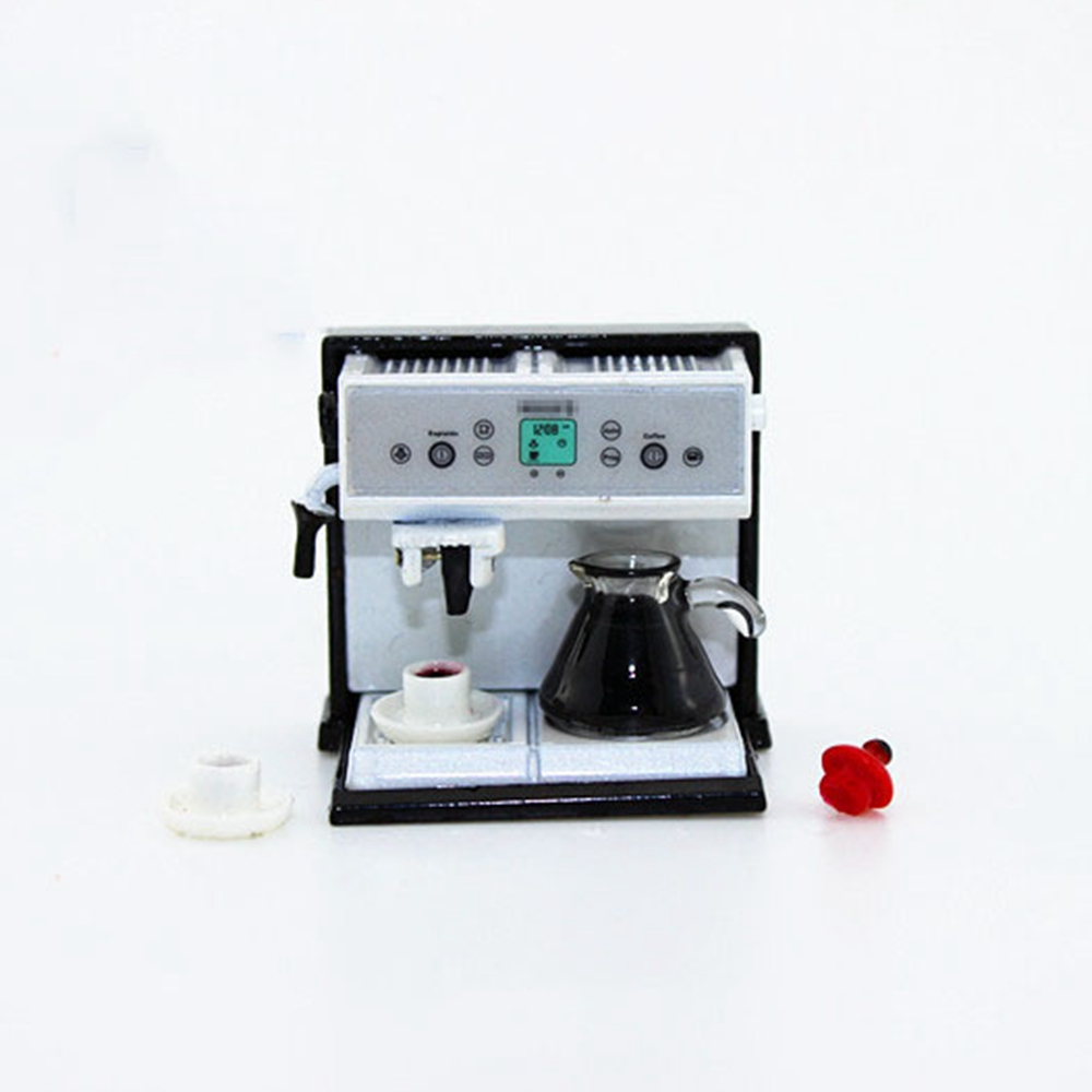 Dollhouse Miniature Kitchen Metal Expresso Coffee Machine With ...