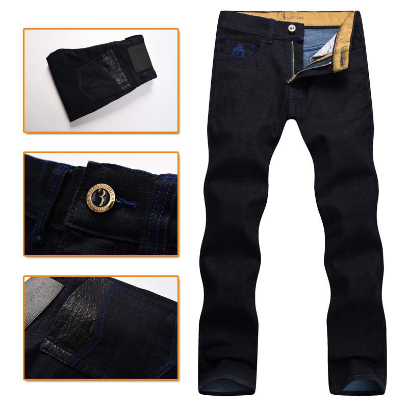 Billionaire italian couture jean men's 2016popular pure cotton commerce comfort excellent fabric embroidered male free shipping excellent ava comfort 150 l