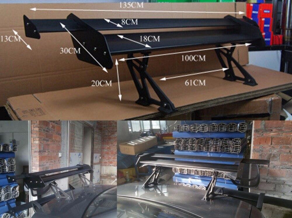 HB Универсальный черный Регулируемый легкий алюминиевый задний автомобиль Седан GT Крыло гонки