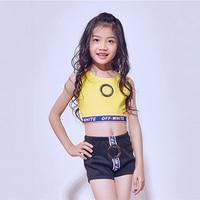 Jazz dance costume children's costume dance summer performance female dance Korean version of the street dance stage show
