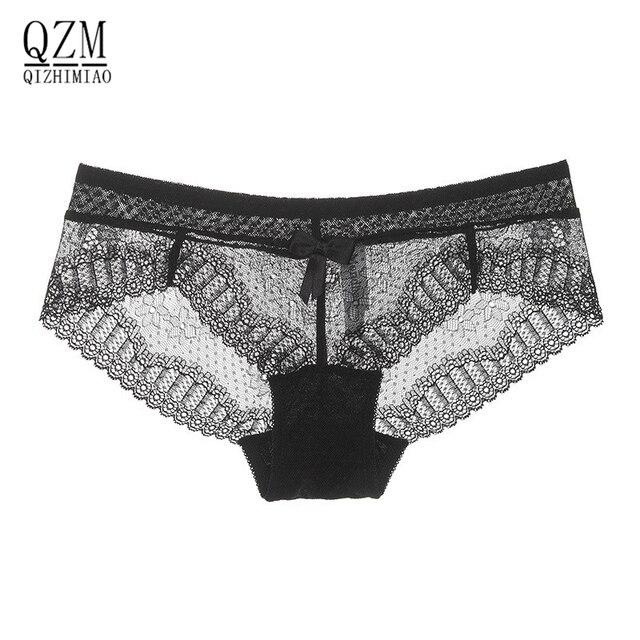 Qizhimiao intimates bragas atractivas del cordón de panty de las mujeres  ahueca hacia fuera briefs chica c1808df3a56e