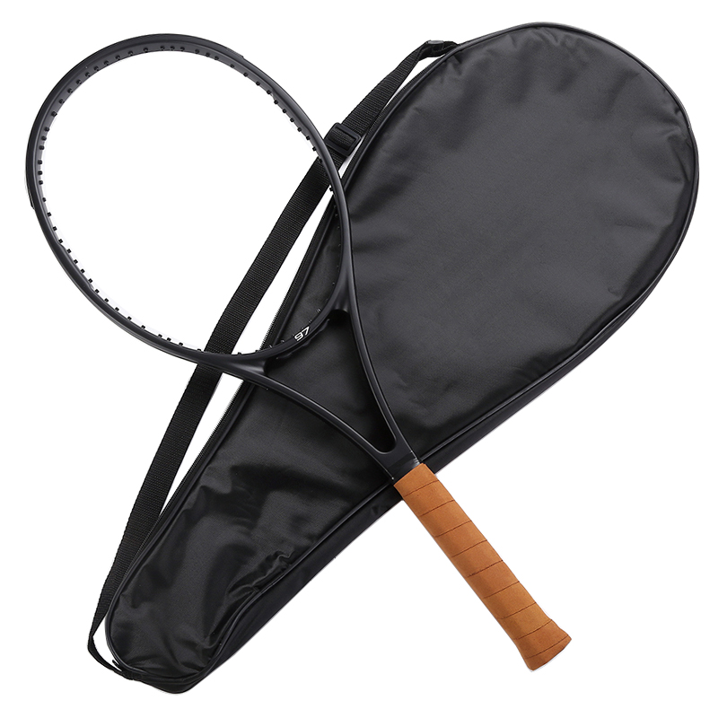 PS 97 NEW custom taiwan black Racquet tennis racket Federer tennis racket Foamed handle 4 1/4,4 <font><b>3/8</b></font>,4 <font><b>1/2</b></font> with bag image