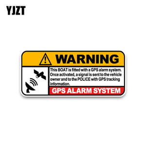 YJZT Police Decals Boat Car-Sticker Warning PVC Tracking-Link GPS C1-3074 Real-Time To
