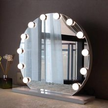 10pcs/set Hollywood Led Vanity Lights Mirror Wall Lamp Makeup Light Bulbs For Dressing Table 10 Bulbs 2W Kit 2018 New Hot Sale(China)