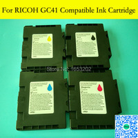 4 Pieces Lot Compatible Ink Cartridge For Ricoh GC41 With Chip For Ricoh SG2010L SG3110dnw 2100