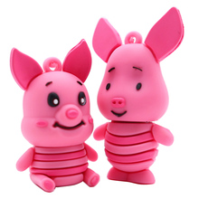 Hot sale cartoon pigs usb flash drive 4GB 8GB 16GB 32GB 64GBpen cute animals memory stick creative gift pendrive