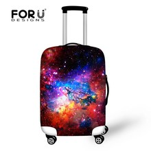 Fashion Men's Portable Elastic Travel Accessories 3D Galaxy Boys Luggage Cover Strong Stretchable Suitcase Men Cover To Suitcase