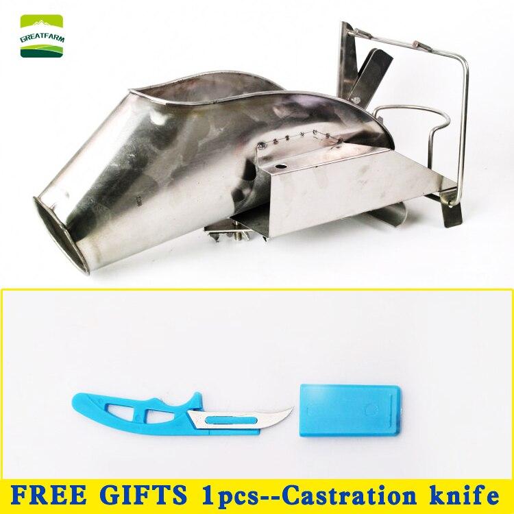 Cochon castration rack outils en acier inoxydable porc castration dispositif porcelet castré plate-forme d'équipement de porc
