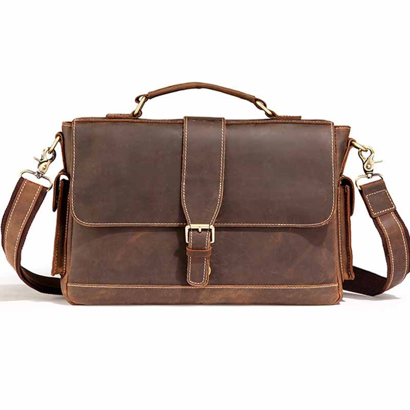 Crazy Horse Genuine Leather Bag Male Cross Section Shoulder Crossbody Bags Business Briefcases Laptop Handbags Totes BF-L3332 mark joyner simpleology the simple science of getting what you want