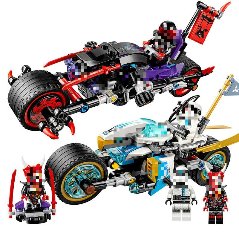 Mailackers  Ninjago 06074 The Street Race Of Snake Jaguar 308Pcs Building Blocks Toys For Children Ninjagoing 70639
