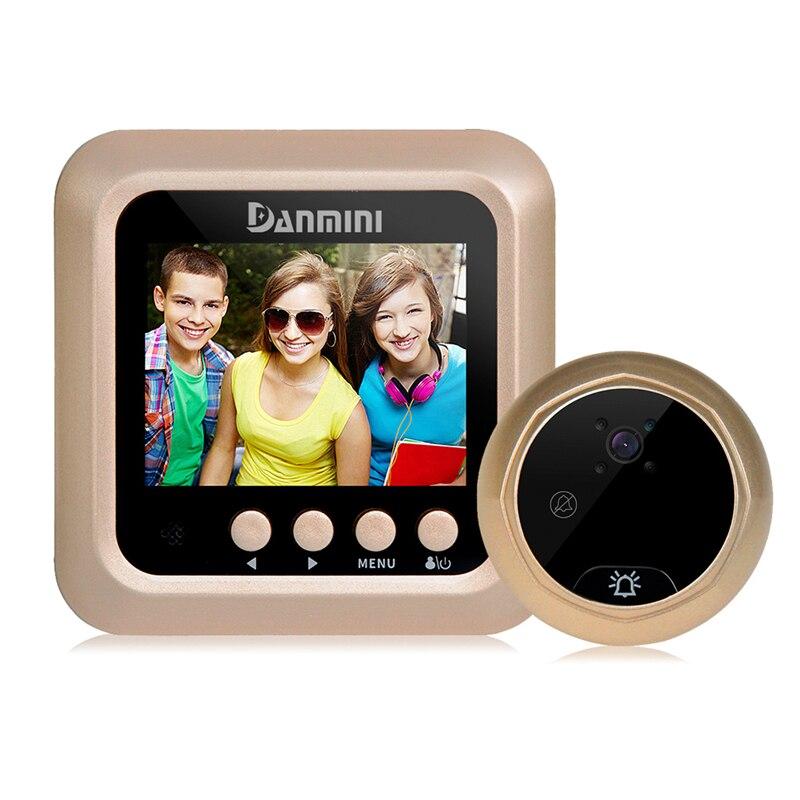 DANMINI 160 Degrees Video Doorbell Peephole Viewer 2.0MP Video Record Door Camera IR Night Vision Door Peephole Doorbell Camera цена