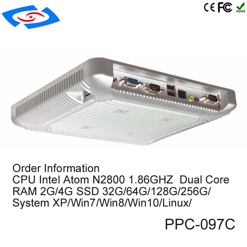 9.7 Inch Intel Atom N2800 Fanless Industrial Panel PC All In One With High Quality Support Customization