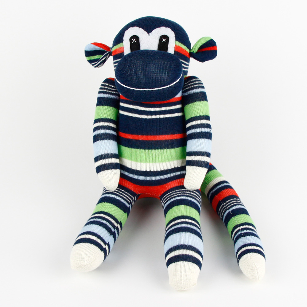 boys gift handmade diy stuffed boy cute sock monkey baby shower toys