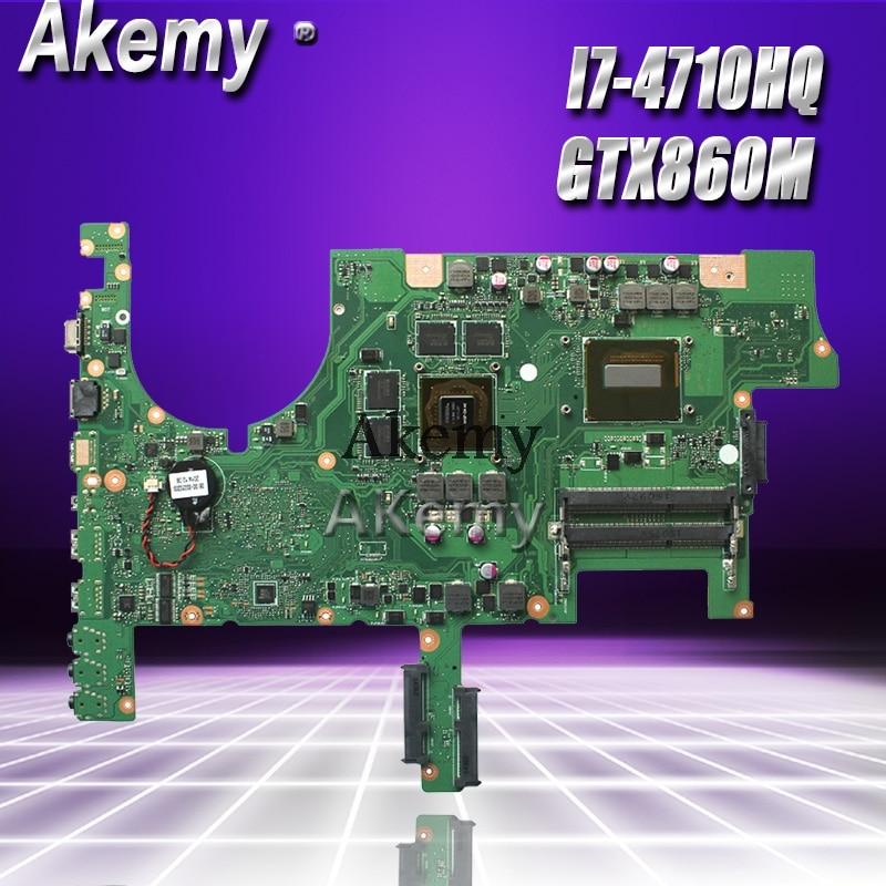 For ASUS ROG G751J G751JM W// i7-4710HQ GTX860M Motherboard Mainboard