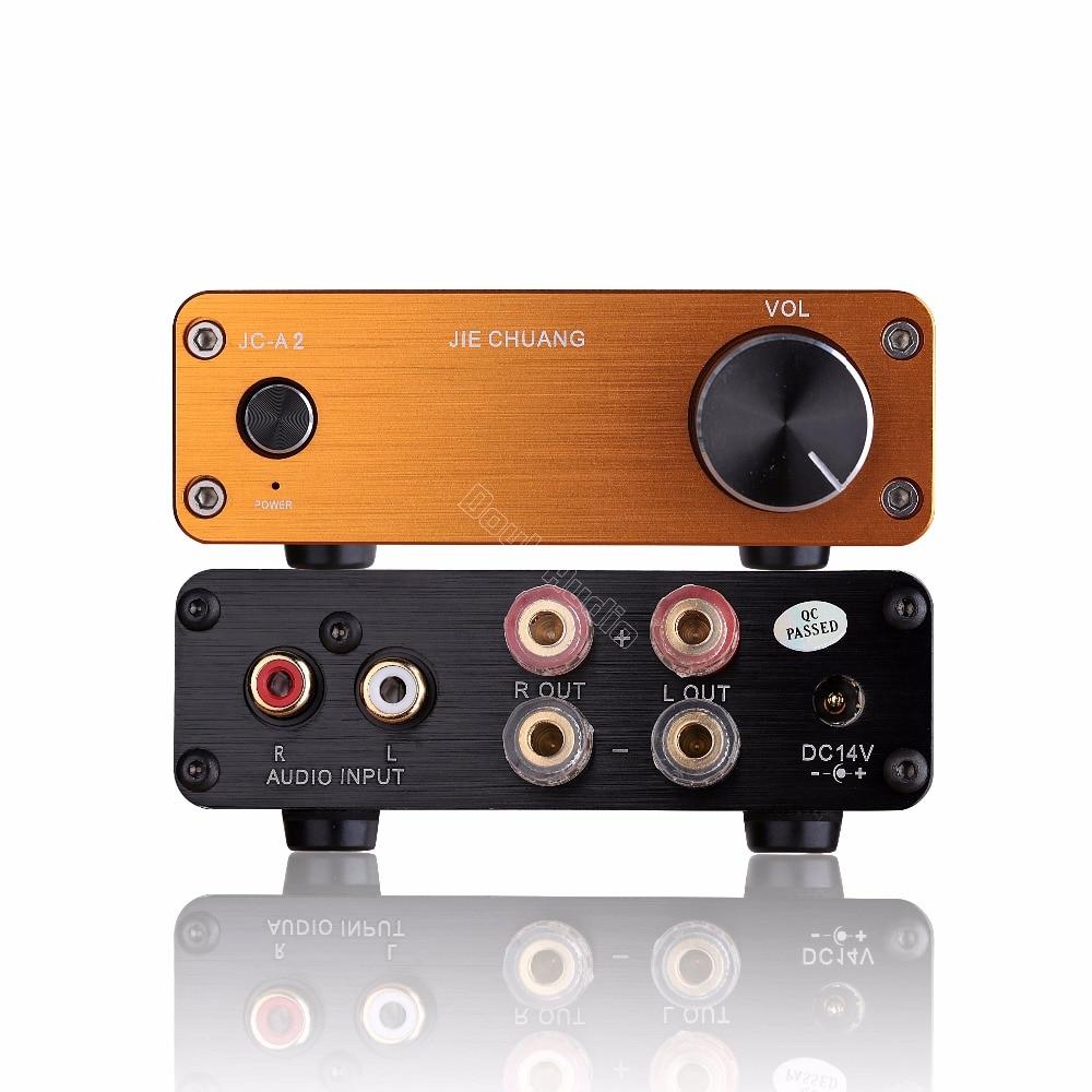 цена на Mini Class AB Digital Power Amplifier Desktop HiFi Stereo 2.0 Channel Audio Amp