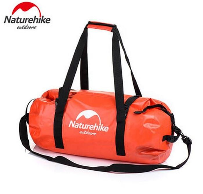 Naturehike Waterproof Bag 40L/60L/90L/120L Dry Bag Strap Storage Bag Outdoor Waterproof Pannier Climbing Cycling Backpacks Trave