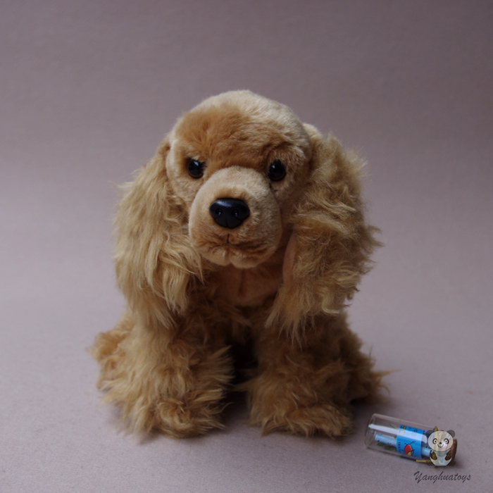 Plush Animals Toy Real Life Cocker Spaniel Doll Stuffed Toys Dog
