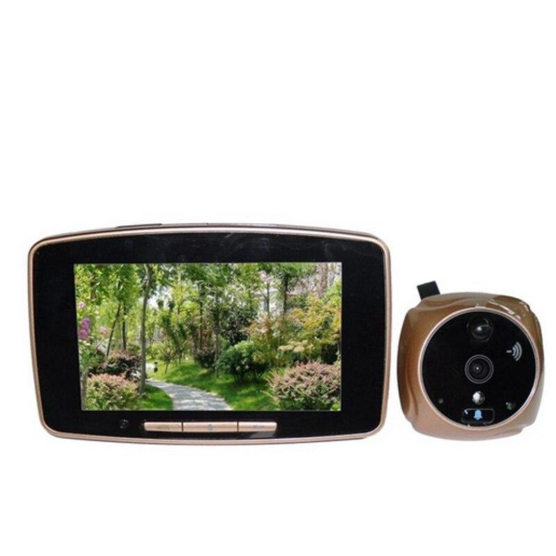 Мобильный Дверь глазок Камера Multi Язык 5.0 дюймов TFT LCD цифровой Широкий формат Сенсорный экран Мониторы видео звонок