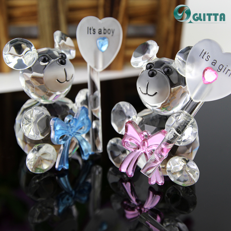 Wedding Party Favor Crystal Baby Shower Gifts Artificial