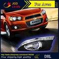 El envío gratuito! 12 V 6000 k LED DRL luz Corriente Diurna para Chevrolet Aveo niebla marco de la lámpara luz de Niebla