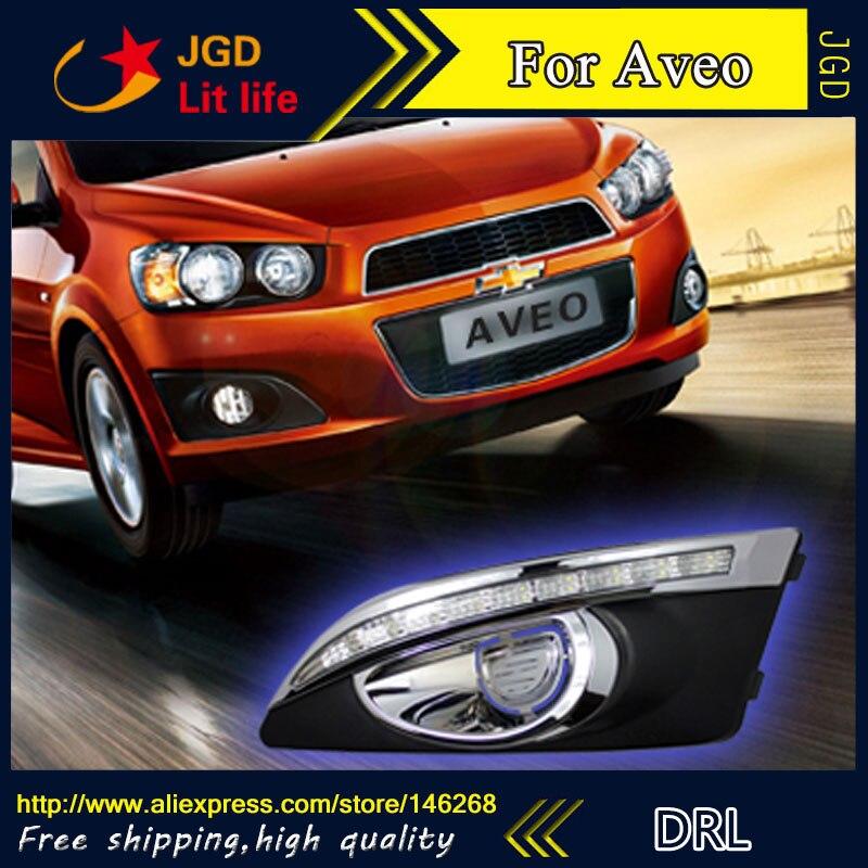 Бесплатная доставка ! 12В 6000K светодиодные DRL фары дневного света для Шевроле Aveo противотуманная фара