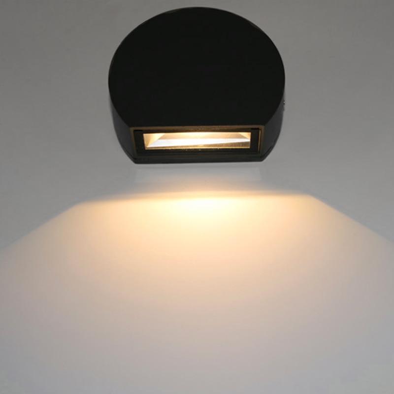 Led Outdoor Aluminium Wand Lampen Ip65 Wasserdichte Wand Lampe Indoor Led Treppen Licht Ac85-265v Korridor Lighitng Nacht Wand Lichter Geeignet FüR MäNner Und Frauen Aller Altersgruppen In Allen Jahreszeiten Led-lampen Led Outdoor-wandlampe