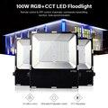 Mi. Light FUTT07 100 Вт Светодиодный прожектор IP65 водонепроницаемый RGB + CCT Регулировка 2 4G беспроводной пульт дистанционного управления wifi cellpnone APP ...