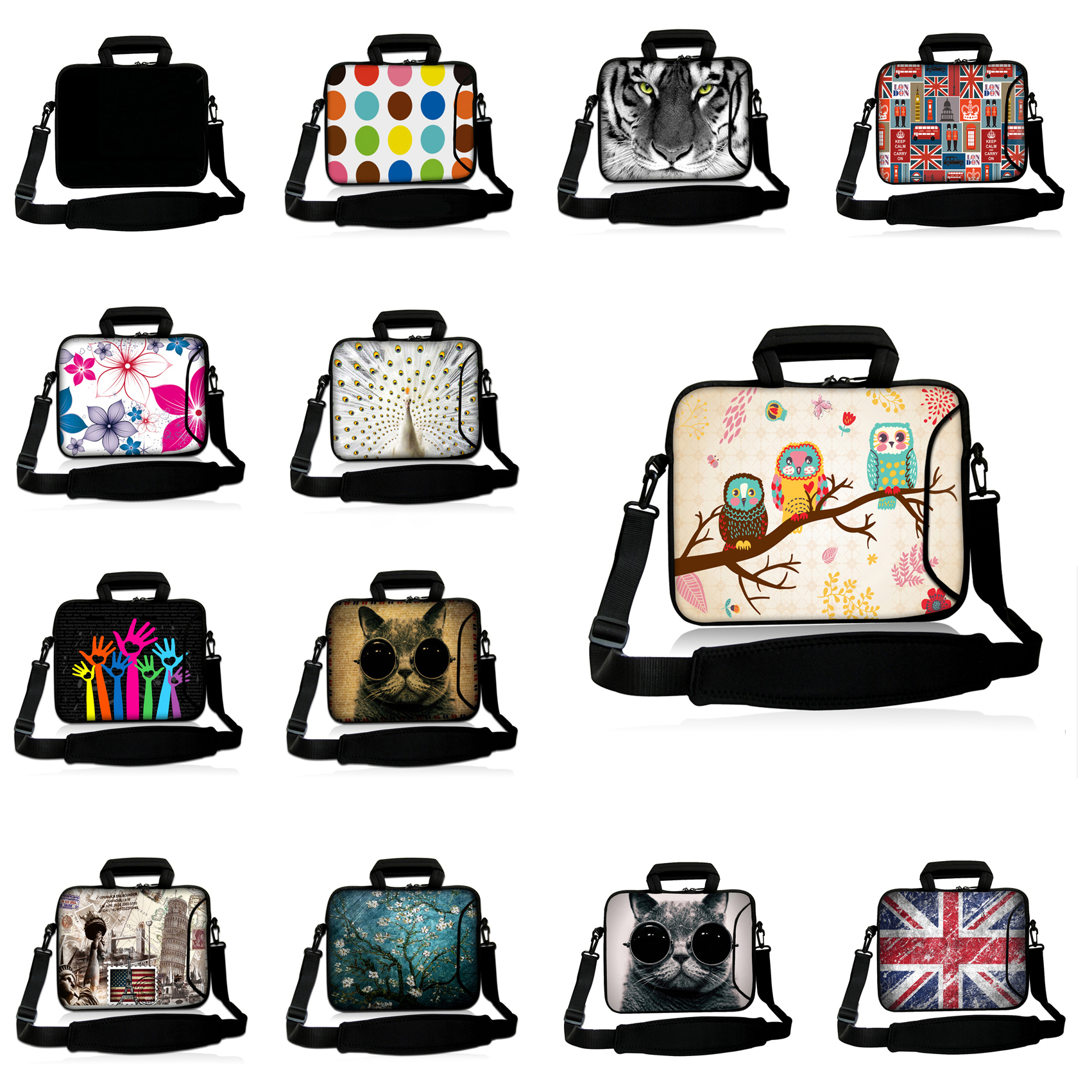 12 Inch Nylon Shoulder Laptop Bag 11.6 Inch Messenger Neoprene Briefcase 12.2 Tablets Waterproof Handbag For Macbook Chuwi Hi12