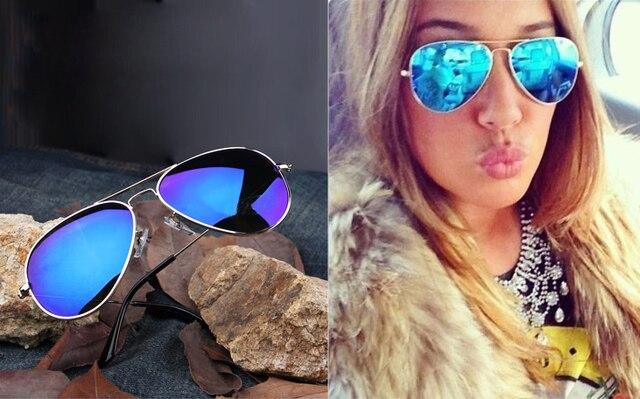 Complet bleu miroir lunettes de soleil aviateur foncé teinte objectif  argent cadre 2d2fd7931595