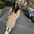 Plus Size 2016 New Fashion Solid Color Waist Trench Coat Casual Hooded Belt Loose Thin Trench Outerwear Women Coat