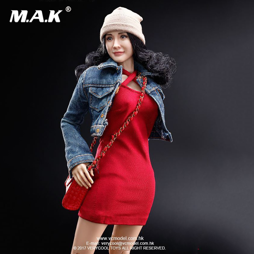 1/6 VERYCOOL Asia Star Girl Yang Mi Curly Hair Head Sculpt and VC 3.0 Body Figure FX06B without the clothing set