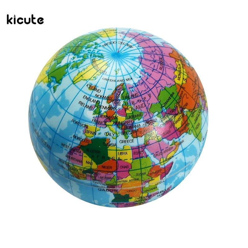 1 Stücke Mini Schaum Weltkugel Lehren Bildung Erde Geographie Spielzeug  Karte Elastische Kugel Modell Handwerk Bildungsangebot