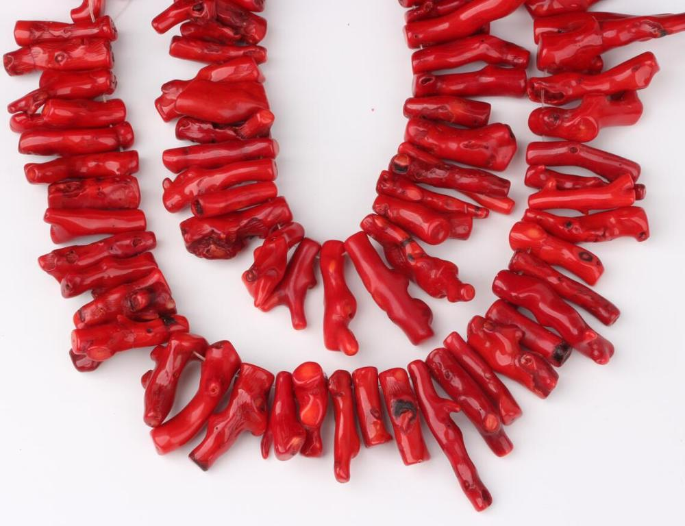Natural Red Coral Chilly Shape Gemstone Pendant Necklace with Black Cord