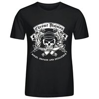 Chrome Division Booze Broads And Beelzebub Men S O Neck Cotton T Shirts Black